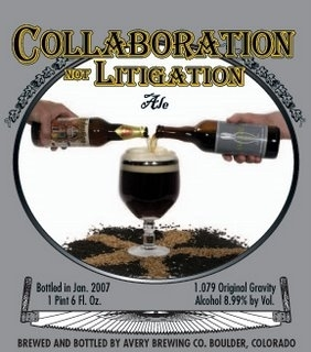 Avery Collaboration Not Litigation Ale beer Label Full Size