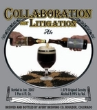 Avery Collaboration Not Litigation Ale beer