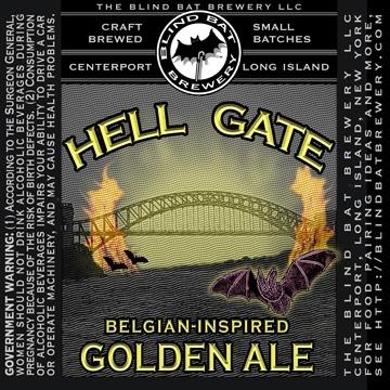 Blind Bat Hell Gate Golden Ale beer Label Full Size