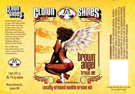 Clown Shoes Brown Angel Beer
