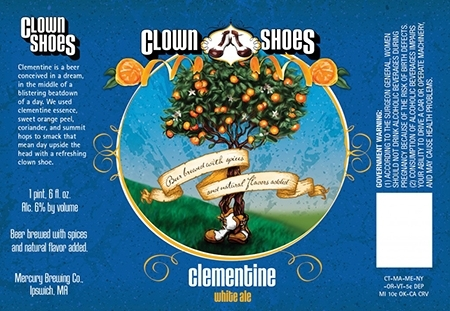 Clown Shoes Clementine beer Label Full Size