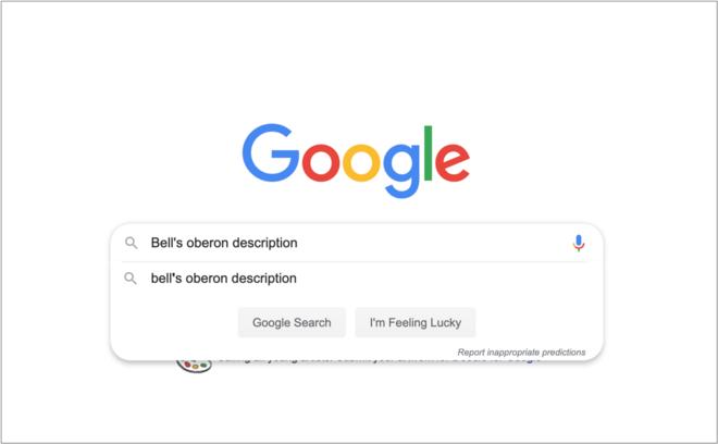 Googling a beer description