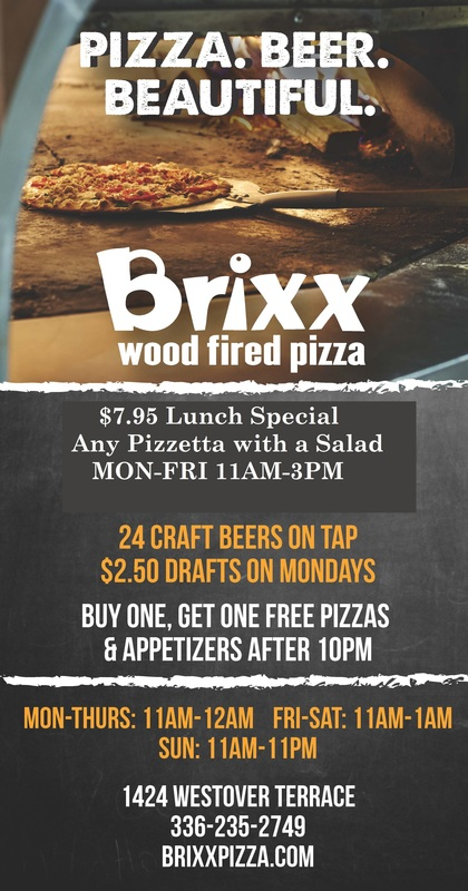 Brixx wood fired pizza greensboro