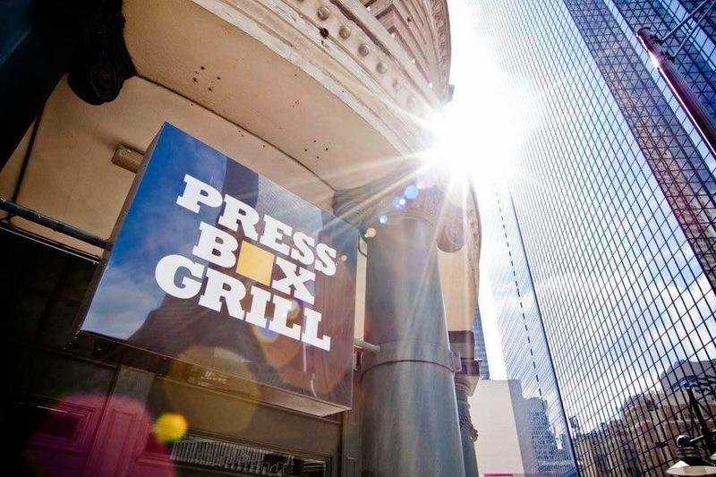 Press box grill