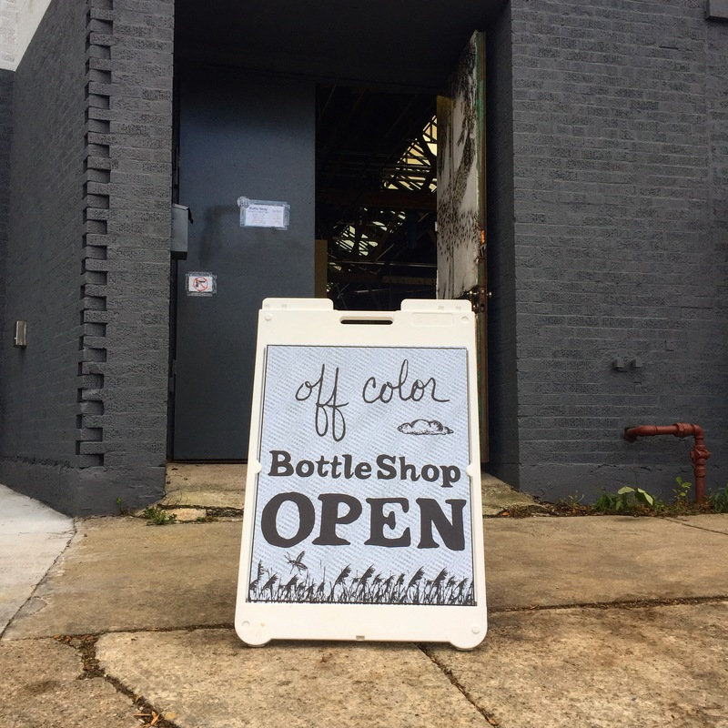 Off color bottle shop