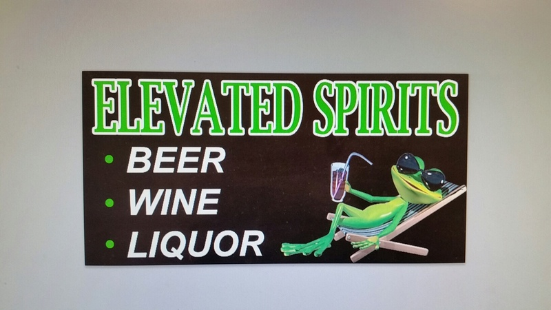 Elevated spirits liquor box
