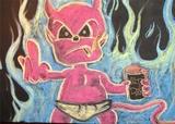 Thumb hop devil grill